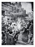 Mary Queen of Scots Enters Edinburgh, 1561, Illustration from The History of the Nation Giclee Print by William Hole