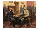 General Grant Meets Robert E. Lee Giclee Print