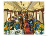 The Comfort of the Pullman Coach of a Late-Victorian Passenger Train Giclee Print by Harry Green
