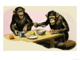 Z For Zoo, Chimpanzee's Tea-Party Giclee Print by R. B. Davis