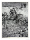 Drake's Attack Upon San Domingo, 1586, Published in Harper's Magazine, 1883 Giclee Print by Howard Pyle