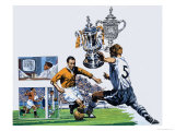 In the News: The Long Road to Wembley Giclee Print by Harry Green