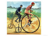 Bicycles Down the Ages. the Penny Farthing Giclee Print by Peter Jackson