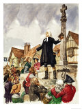 The Wonderful Story of Britain: The Good Work of John Wesley Giclee Print by Peter Jackson