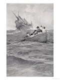 We Escaped in the Boat, Published in Harper's Magazine, 1895 Giclee Print by Howard Pyle
