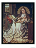 Virgin and Child Before a Firescreen, c.1440 Giclee Print by Master of Flemalle 