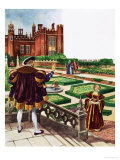 Once Upon a Time, a Stroll Around the Tudor Garden Giclee Print by Peter Jackson