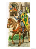 Growing Up in Norman England: Off to Serve the King Giclee Print by Peter Jackson