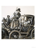George the First Leaned Out of His Carriage Giclee Print by Ken Petts