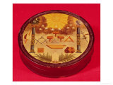 Oval Painted Box, with Symbols of Freemasonry Giclee Print