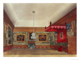 The Throne Room, Hampton Court from Pyne's Royal Residences, 1818 Giclee Print by William Henry Pyne