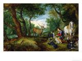 The Vision of St. Hubert, c.1620 Giclee Print by Jan Brueghel the Elder
