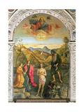Baptism of Christ, St. John Altarpiece Giclée-tryk af Giovanni Bellini