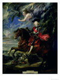 The Cardinal Infante Ferdinand at the Battle of Nordlingen, c.1634 Giclee Print by Peter Paul Rubens