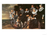 Family Group in a Landscape, c.1647-50 Giclee Print by Frans Hals