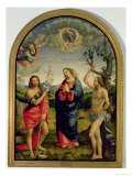 The Virgin with Saints Sebastian and John the Baptist Gicl&#233;e-Druck von Timoteo Viti