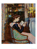 Mlle. Guillaumin Reading, 1907 Giclee Print by Armand Guillaumin