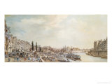 View of the Port Saint-Paul, Paris, 1782 Giclee Print by Louis-Nicolas de Lespinasse