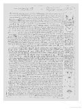 Page from the Codex Leicester, 1508-1512 Giclee Print by  Leonardo da Vinci