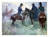 Blucher and Wellington Meet, Our Island Story Marshall, Pub.Jack Ltd, London, 1905 Giclee Print by A.s. Forrest