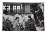 In the Reading Room of a New York Coffee House Giclee Print by Howard Pyle