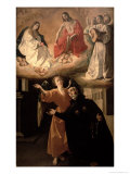 The Vision of St. Alphonsus Rodriguez Giclee Print by Francisco de Zurbarán