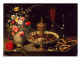 Still Life of Flowers and Dried Fruit, 1611 Giclee Print by Clara Peeters