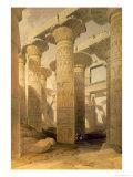 Hall of Columns, Karnak, from Egypt and Nubia, Vol.1 Giclée-Druck von David Roberts