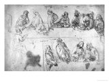 Preparatory Drawing For the Last Supper Giclee Print by  Leonardo da Vinci