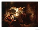 Joseph's Dream in the Stable in Bethlehem Giclee Print by  Rembrandt van Rijn