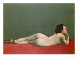 Nude Stretched Out on a Piece of Cloth, 1909 Gicl&#233;e-Druck von Felix Vallotton