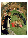 St. Dominic Rescuing Shipwrecked Fishermen from Drowning, Altarpiece of St. Claire, 1415 Giclee Print by Luis Borrassa