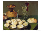 Still Life with Oysters and Glasses Giclee Print by Osias The Elder Beert