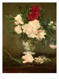 Vase of Peonies on a Small Pedestal, 1864 Giclee Print by Édouard Manet
