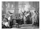 Meeting of St. Augustine and the Donatists Giclee Print by Carle van Loo