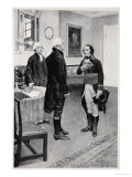 Citizen Genet Formally Presented to Washington, April 19th 1793 Giclee Print by Howard Pyle