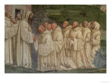 Benedictine Monks, from the Life of St. Benedict Giclee Print by L. Signorelli