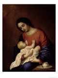 Virgin and Child Giclee Print by Francisco de Zurbarán