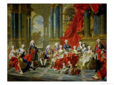 The Family of Philip V, 1743 Giclee Print by Louis-Michel van Loo