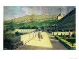 The Monks' Garden at the Monastery of San Lorenzo Del Escorial Giclee Print by Michel-ange Houasse