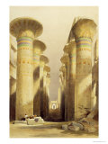 Central Avenue of the Great Hall of Columns, Karnak, from Egypt and Nubia, Vol.1 Giclee Print by David Roberts