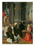 The Mass of St. Gregory Giclee Print by Adriaen Isenbrant