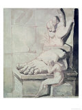 The Artist in Despair over the Magnitude of Antique Fragments Giclee Print by Henry Fuseli