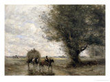 The Haycart, c. 1860 Giclee Print by Jean-Baptiste-Camille Corot