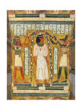 Libation of the Dead, Interior of the Sarcophagus of Amenemipet, Priest of the Cult of Amenophis Giclee Print by  Egyptian 18th Dynasty