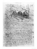 Studies For Stables, Paris Manuscript, c.1487-90 Giclee Print by  Leonardo da Vinci