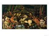 The Battle of San Romano in 1432, c.1456 Giclee Print by Paolo Uccello