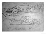 Scythed Chariot, c.1483-85 Giclee Print by  Leonardo da Vinci