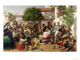 Life Among the Gypsies, Seville, 1853 Giclee Print by John Phillip