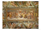 The Banquet of the Gods, Ceiling Painting of the Courtship and Marriage of Cupid and Psyche Reproduction proc&#233;d&#233; gicl&#233;e par Raphael 
